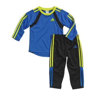 adidas® Size 3M 2-Piece Goal Keeper Shirt and Pant Set in Blue/Black