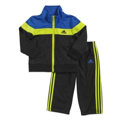 adidas® Size 3T 2-Piece Elite Tricot Tracksuit Set in Blue/Black