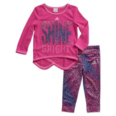 "Adidas® Size 3T 2-Piece ""Shine Bright"" Top and Legging Set"