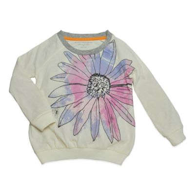 Burt's Bees Baby™ Size 12M Organic Cotton Floral Raglan Tee in Ivory