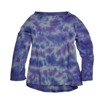 Burt's Bees Baby® Size 2T Organic Cotton Tie Dye Long Sleeve Tee in Purple