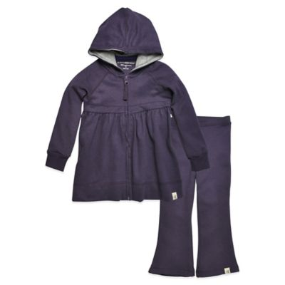 Burt's Bees Baby™ Size 3-6M 2-Piece Organic Cotton Brushed Hoodie and Pant Set in Purple