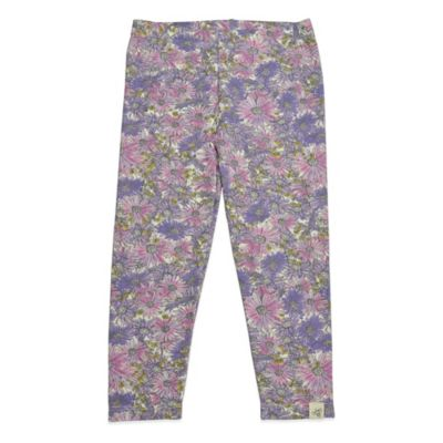 Burt's Bees Baby™ Size 6-9M Organic Cotton Floral Legging in Pink and Purple