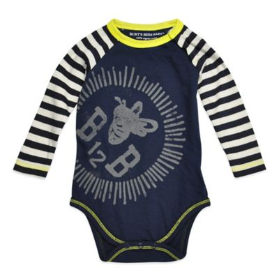 Burt's Bees Baby™ Size 24M Organic Cotton Long-Sleeve Colorblock Bodysuit in Navy
