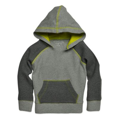 Burt's Bees Baby® Size 2T Organic Cotton Thermal Hoodie in Grey