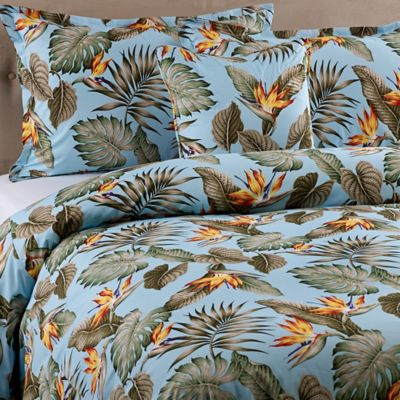 Sky Birds Full/Queen Duvet Cover Set in Blue