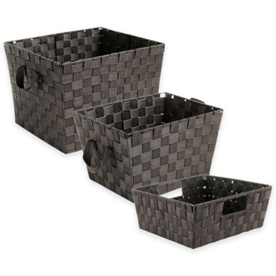 Shelf Woven Storage Tote in Espresso