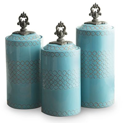 American Atelier 3-Piece Quatra Canister Set in Red