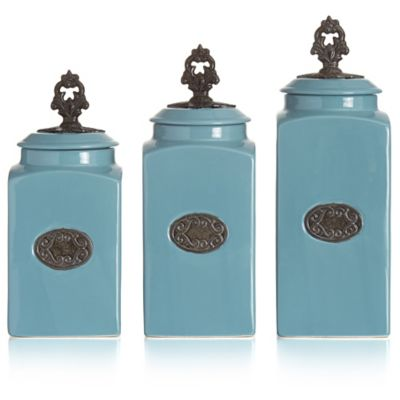 Buy elegant kitchen canister sets from bed bath beyond for Kitchen set elegant