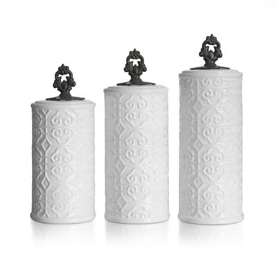 American Atelier 3-Piece Devi Canister Set in White