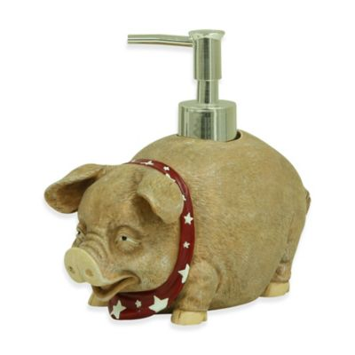 Bacova Resin Oscar the Pig Lotion Dispenser in Beige
