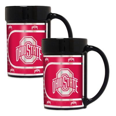 Ohio State University Metallic Coffee Mugs (Set of 2)