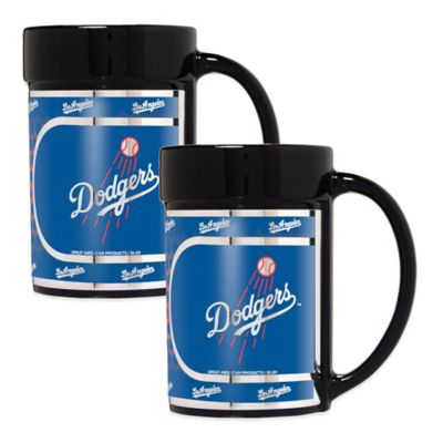 MLB Los Angeles Dodgers Metallic Coffee Mugs (Set of 2)