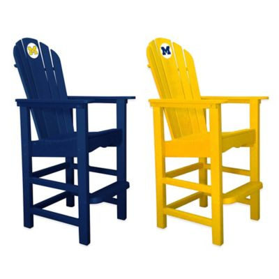 University of Michigan Pub Captains Chair in Yellow