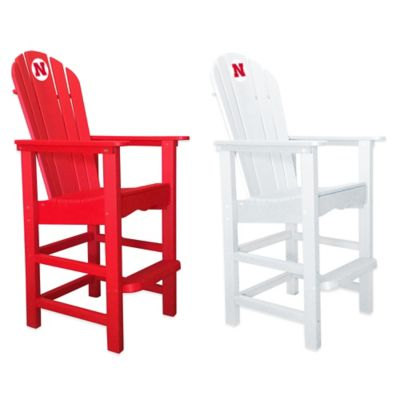 University of Nebraska Pub Captains Chair in White