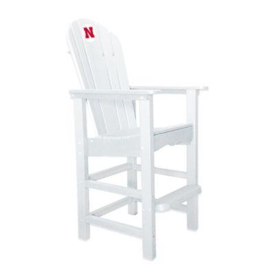 University of Nebraska Pub Captains Chair in White