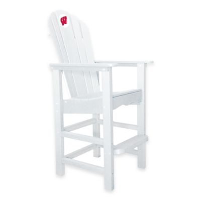 University of Wisconsin Pub Captains Chair in White