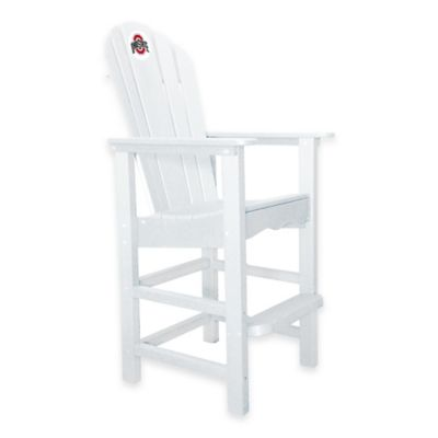 Ohio State University Pub Captains Chair in White