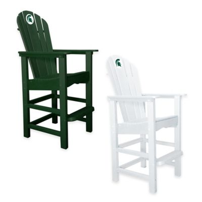 Michigan State University Pub Captains Chair in White