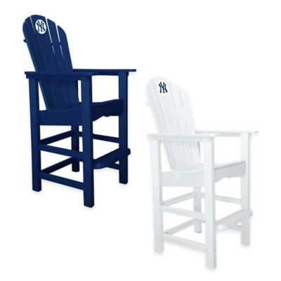 MLB New York Yankees Pub Captains Chair in White