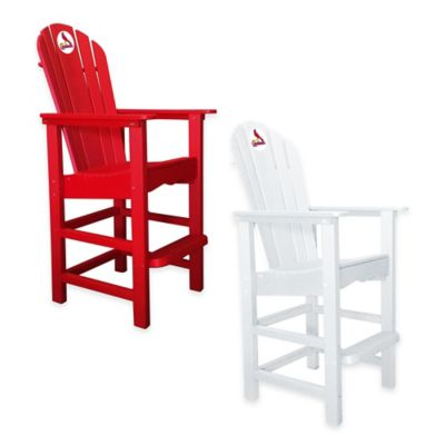 MLB St. Louis Cardinals Pub Captains Chair in White