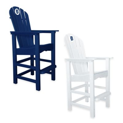 MLB Detroit Tigers Pub Captains Chair in White