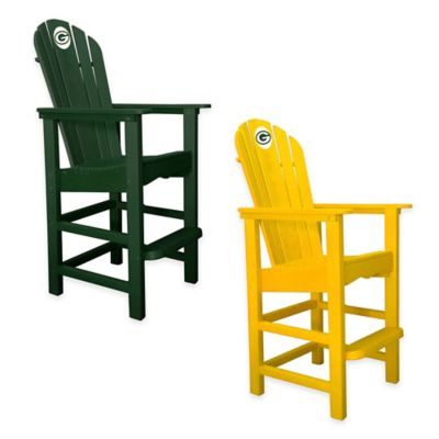 NFL Green Bay Packers Pub Captains Chair in Green