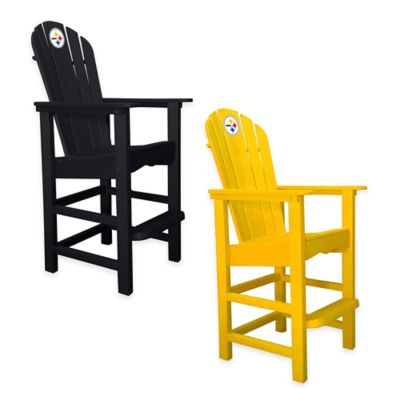 NFL Pittsburgh Steelers Pub Captains Chair in Yellow