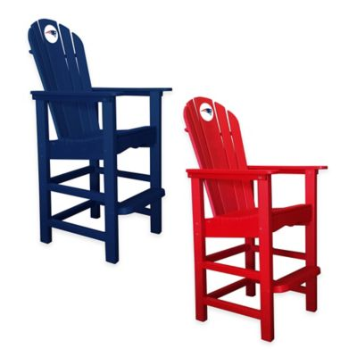 NFL New England Patriots Pub Captains Chair in Red