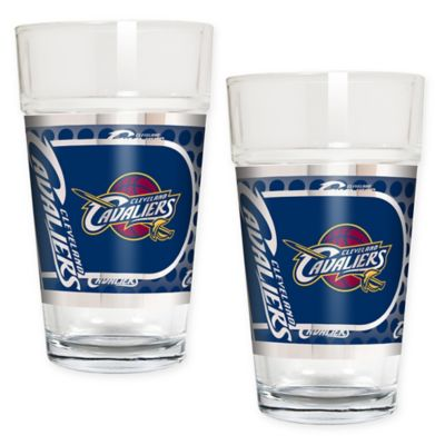 NBA Cleveland Cavaliers Metallic Pint Glass (Set of 2)