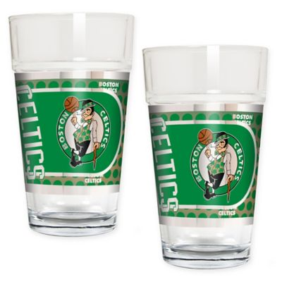 NBA Boston Celtics Metallic Pint Glass (Set of 2)