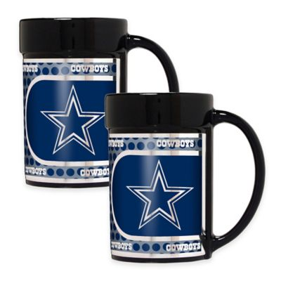 NFL Dallas Cowboys Metallic Coffee Mugs (Set of 2)