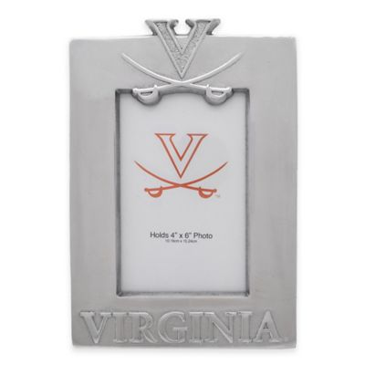 NCAA University of Virginia 4-Inch x 6-Inch Metal Photo Frame