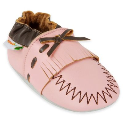 MomoBaby Size 12-18M Leather Soft Sole Shoe in Pink