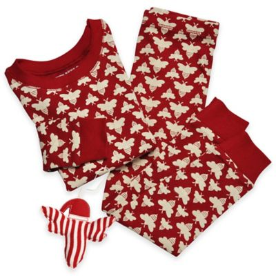 Burt's Bees Baby® Size 4T Organic Cotton 3-Piece Bumble Bee Pajama and Ornament Set in Red