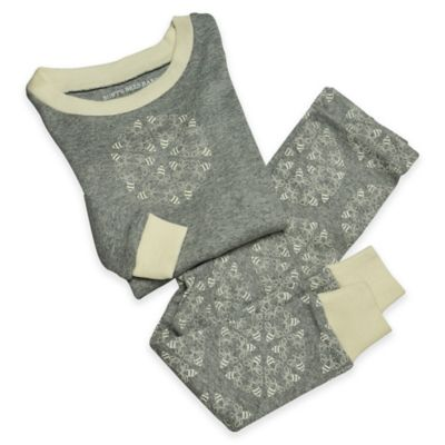 Burt's Bees Baby® Size 4T 2-Piece Organic Cotton Snowflake Pajama Set in Grey