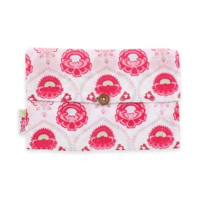 Minene Supersize Floral Print Cotton Muslin Swaddle in Pink