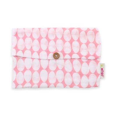 Minene Supersize Eggs Print Cotton Muslin Swaddle in Pink