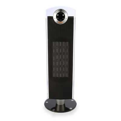 Crane Digital 27-Inch Ceramic Tower Heater in Black