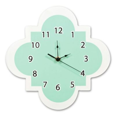 Trend Lab® Quatrefoil Wall Clock in Mint