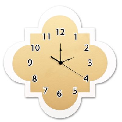 Waverly® Baby by Trend Lab® Quatrefoil Wall Clock in Gold