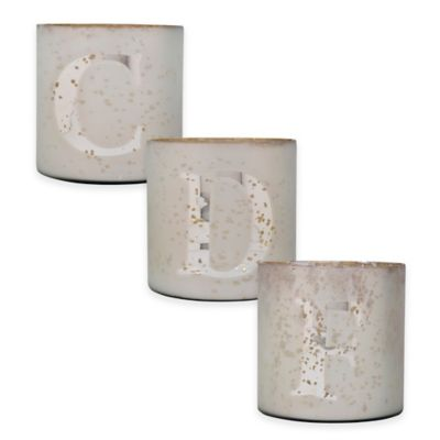 Gold/White Candle Holders