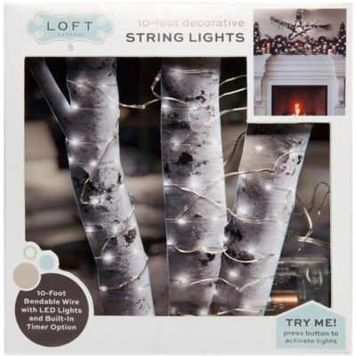10-Foot LED String Lights in Silver