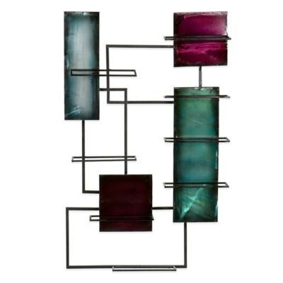 Southern Enterprises Wine Storage Wall Sculpture in Black
