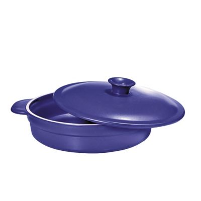 French Home 2.6 qt. Sauté Pan with Lid in Blue