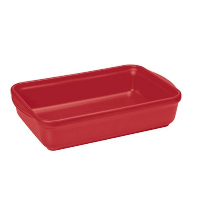 French Home 10-Inch x 7-Inch Rectangular Baking Dish in Red