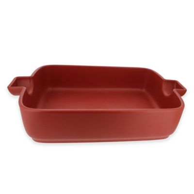 French Home 12-Inch x 8.5-Inch Rectangular Baking Dish in Red