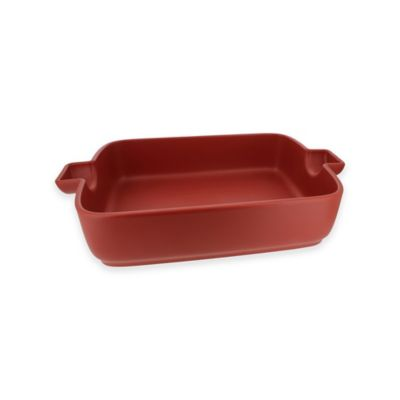 French Home 9.5-Inch x 6.5-Inch Rectangular Baking Dish in Red