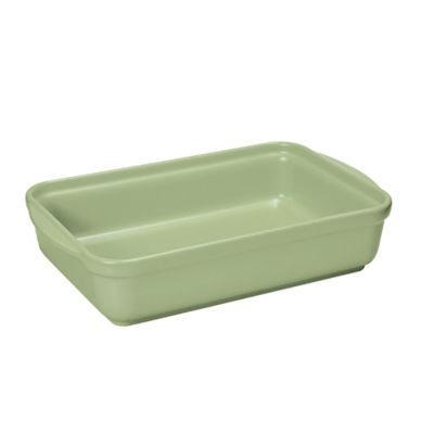French Home 10-Inch x 7-Inch Rectangular Baking Dish in Sage Green