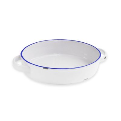 American Atelier 7.7-Inch x 11.7-Inch Vintage Baking Dish in Blue